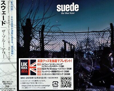 SUEDE The Blue Hour Orig 2018 JAPAN Plastic Case CD WPCR-18064 Factory Sealed