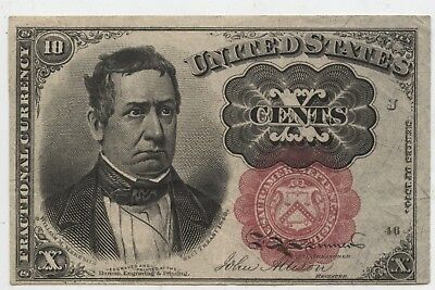 10 Cent Fractional Currency - Appears UNC - Fifth Issue 1874 FR1266