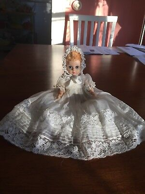 Vintage Madame Alexander Little Genius Original Tagged Christening Gown.