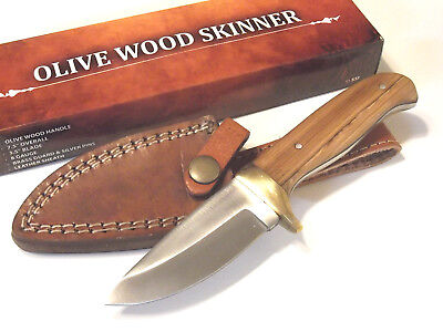 """OLIVE WOOD SKINNER 203360OW full tang fixed blade knife 7 1/2"""" overall NEW!"""