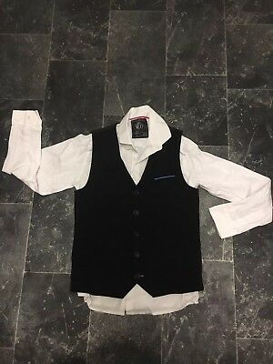 Boys Next White Shirt And Black Waistcoat Size 11 Years Christmas Parties