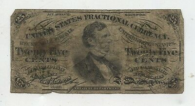 FR1294 25¢ 3RD ISSUE FRACTIONAL CURRENCY GREEN BACK  Good only