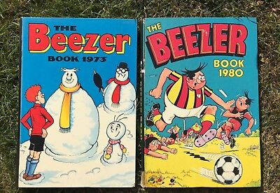 Beezer Book 1973 and 1980  Vintage Annuals