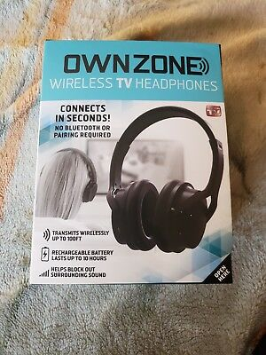 Sharper Image OWNZONE Wireless TV Headphones WN061112 BLACK