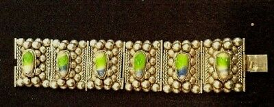 Outstanding Antique Mexican Hand Made Silver Bracelet