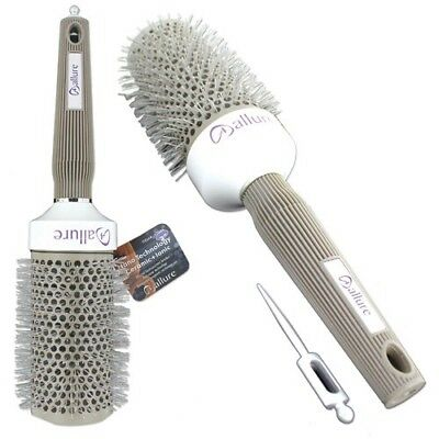 """Allure NanoTech Thermal Ceramic+Ionic Round Barrel Comb Styling Brush, 2"""" Inch"""