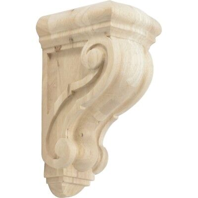"Rubberwood Decorative Wood Corbel Countertop Support 5-5/8"" Inch Deep"