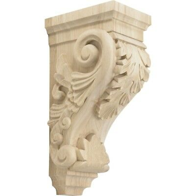 "Rubberwood Decorative Wood Corbel Countertop Support 7-5/16"" Inch Deep"