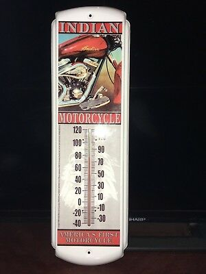 "Indian Motorcycle Thermometer  17"" x 5"" x 1/2"" Gilroy period"