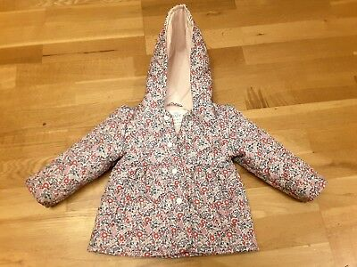 M&S Baby Girl Pink Floral Quilted Jacket 6-9 Months Coat Ditsy Next Jojo