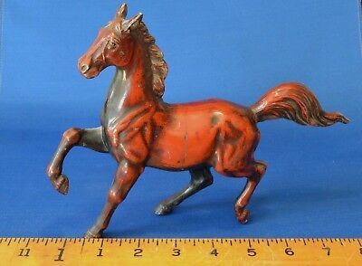 Beautiful Vintage Metal Horse Figure Model. Rule is in inches