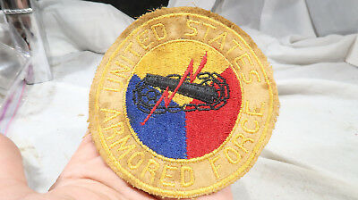 WWII US Home Front Sweetheart Jacket Patch Armored Forces