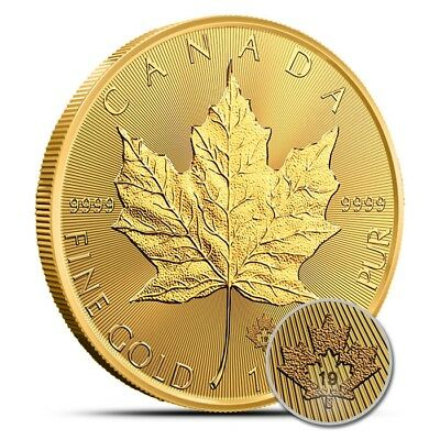 2019 Canada 1 Oz $50 .9999 Fine Gold Maple Leaf Coin - Gem Uncirculated (BU)