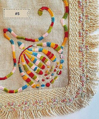 Antique Doily Colorful Arts & Crafts Stickley Mission Table Home Decor A4