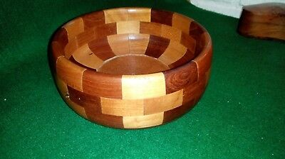 Vintage Mid Century Cambridgeware Wooden Fruit Bowl