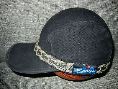 cc445d973d1 KAVU Black Cotton CANVAS BASEBALL HAT Hunting Fishing Hiking Work Gym Sz  SMALL