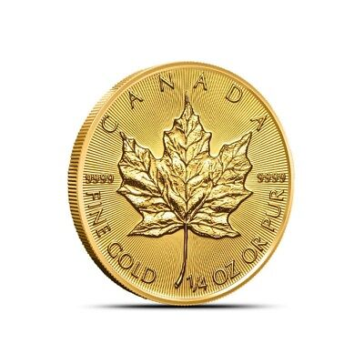 2019 Canada 1/4 Oz $10 .9999 Fine Gold Maple Leaf Coin - Gem BU