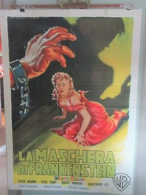 CURSE OF FRANKENSTEIN Italian 39x55 Hammer Horror, Peter Cushing, Chris Lee