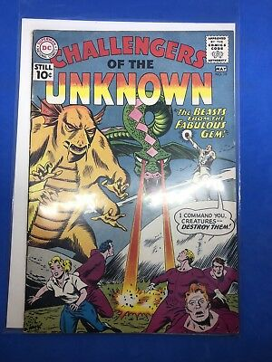 Challengers of the Unknown 1st Series No. 19 May 1961 DC Cover $.10 The Beast fr
