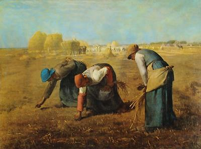 Lithograph THE GLEANERS Jean Francois Millet BARBIZON Realism #343