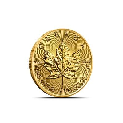 2019 1/10 Oz Canada Gold Maple Leaf Coin .9999 Fine BU Sealed in Plastic