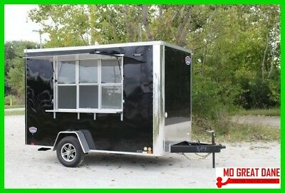 REDUCED! 7x12 Single Axle Enclosed Concession Food Trailer 12V Lights & Sinks