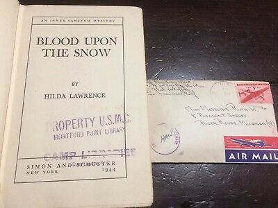 WW2 USMC Book And Wartime Letter Engineer Battalion 1st Marines