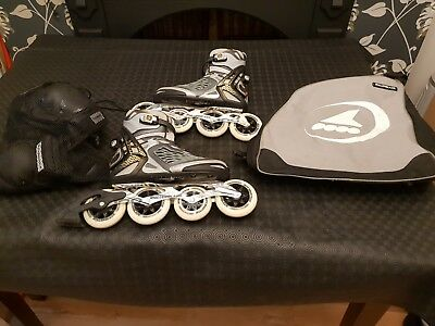 Rollerblade Crossfire 8.0 Inline skates with pads and bag - Lot - Size 8- EU 42