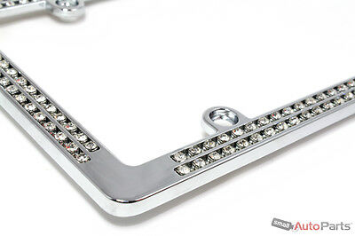Chrome Diamond Bling Custom Metal License Plate Frame for Auto-Car-Truck-SUV