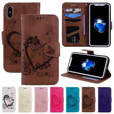 Retro Leather Flip Stand Card Wallet Case Cover For iPhone XS Max/XR/X 7 8 Plus