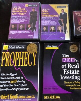 Rich Dad Poor Dad books and CDs and books by Kiyosaki