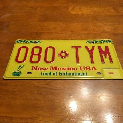 New Mexico License Plate 080 TYM - US SELLER