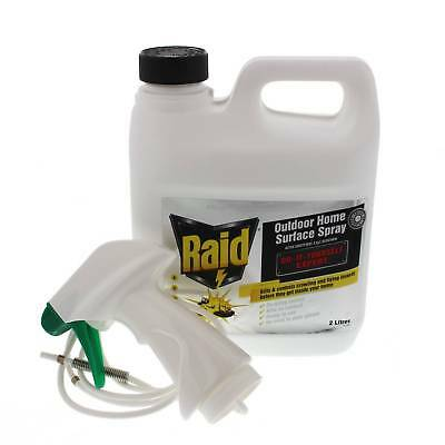 Raid Outdoor Home Surface Spray 2L Kills Cockroaches Ants Mosquitoes Spiders Fly