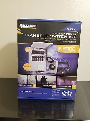 Reliance Back-Up Power  6-Circuit Complete Transfer Switch Kit 306LRK New Sealed