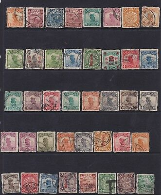 40 x old China Chinese stamps used some overprints early 1900's