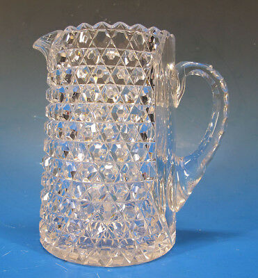 Antique ABCG American Brilliant Cut Glass Sm Milk Water Pitcher Dorflinger 5 yqz
