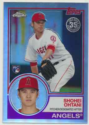 2018 Topps Chrome Refractor  Shohei Ohtani (RC) Los Angeles Angels