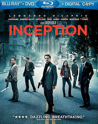 Inception (Blu-ray/DVD, 2010, 2-Disc Set) includes Lenticular Slipcover