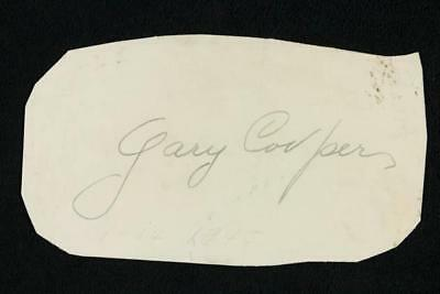 NobleSpirit {3970} Scarce Actor Gary Cooper Genuine Autograph on Paper