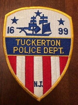 Tuckerton NJ Police Patch - Flag Background - US BUYER ONLY