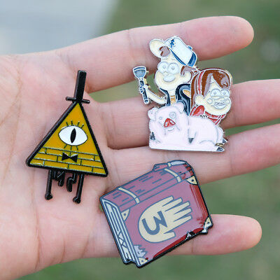 Anime Gravity Falls Journal 3 Metal Badge Brooch Pin Chest Button Ornament Gift