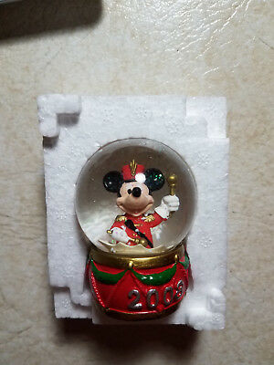 NEW 2008 JC Penny Collectible Disney Mickey Mouse Mini Snow Globe 2.5""