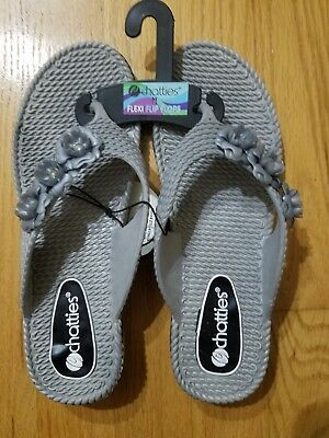 85208b35a Womens New With Tags Gray Flexi Flip Flops Size 8