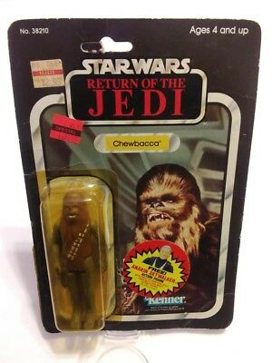 1983 Return of the Jedi Chewbacca 65 Back Open Cardback Bubble Figure Rare