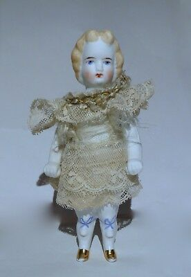 Antique All Bisque German Doll~Moveable Arms~Parisian Porcelain Germany Doll