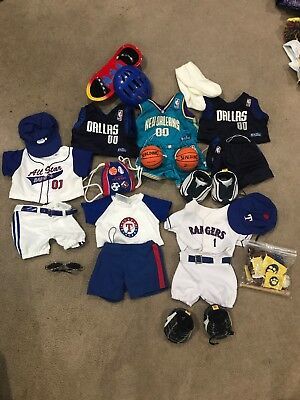 Build A Bear Clothes LOT **SPORTS** NBA MLB