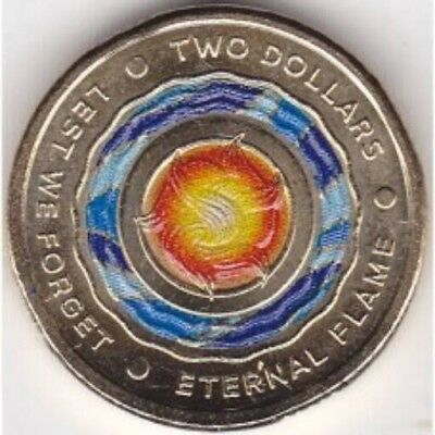 $2 Australian coin 2018. Eternal Flame, Lest We Forget. Brand New/uncirculated.