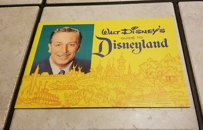 1962 Disneyland Walt Disney's Guide To DISNEYLAND Excellent Condition