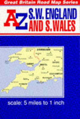 Reversible Great Britain Series.: A-Z Road Map of South West England and South
