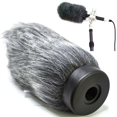 Furry Shotgun Deadcat Microphone Windscreen Muff Wind Cover Audio Technica AT879